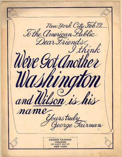Sheet Music - I think we've got another Washington and Wilson is his name