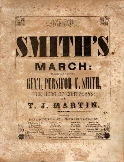 Sheet Music - Smith's march; Gen. Persifor F. Smith's march