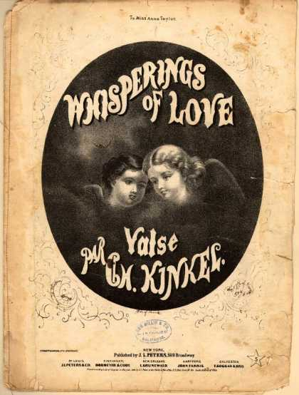 Sheet Music - Whisperings of love; Valse sentimentale