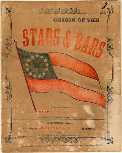 Sheet Music - Origin of the Stars & bars; Our flag