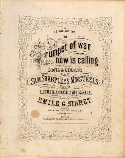 Sheet Music - Trumpet of war now is calling