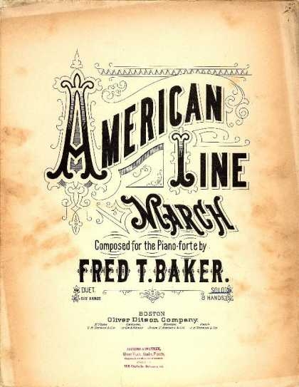 Sheet Music - American line march