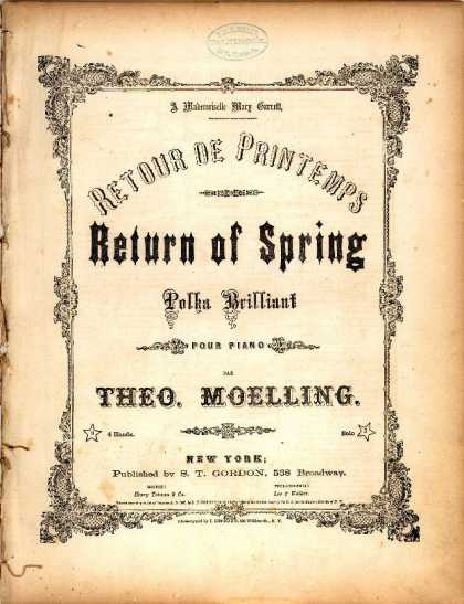 Sheet Music - Return of spring; Retour du printemps