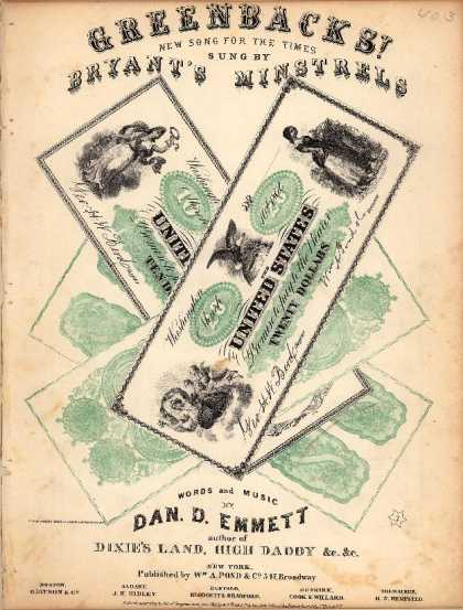 Sheet Music - Greenbacks!; Green-backs