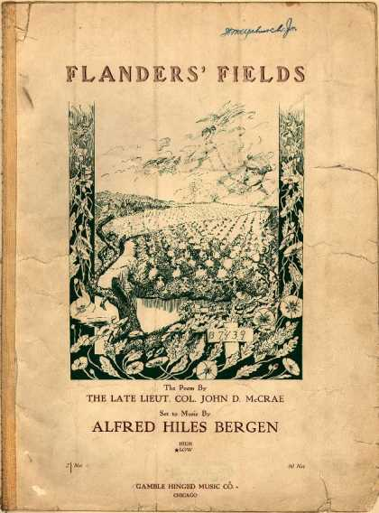 Sheet Music - Flanders' fields