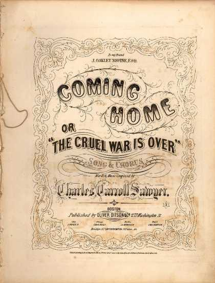 Sheet Music - Coming home; The cruel war is over
