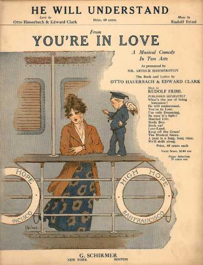 Sheet Music - He will understand; You're in love