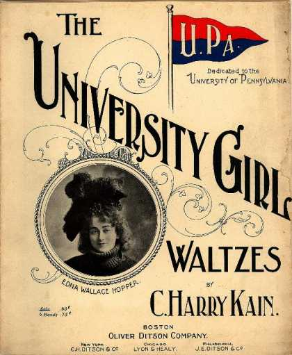 Sheet Music - University girl waltzes