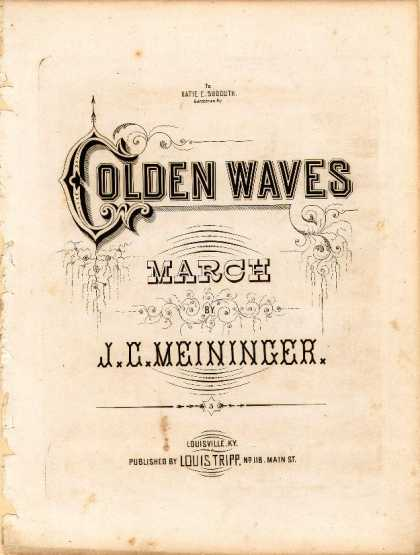 Sheet Music - Golden waves march