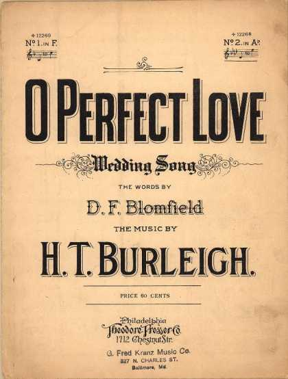 Sheet Music - O perfect love; Wedding song