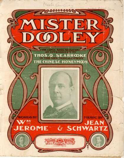 Sheet Music - Mister Dooley; Chinese honeymoon