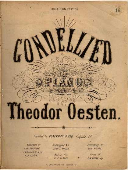 Sheet Music - Gondellied