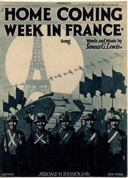 Sheet Music - Home coming week in France