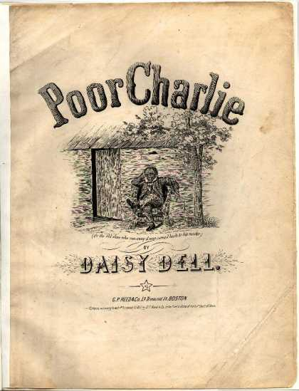 Sheet Music - Poor Charlie; Old slave who ran away & was carried back to his master