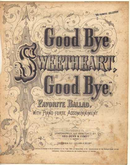 Sheet Music - Good bye sweetheart good bye