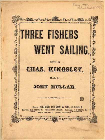 Sheet Music - Three fishers went sailing