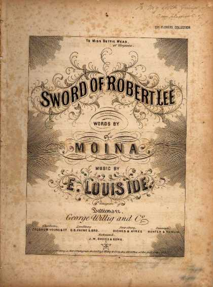 Sheet Music - Sword of Robert Lee