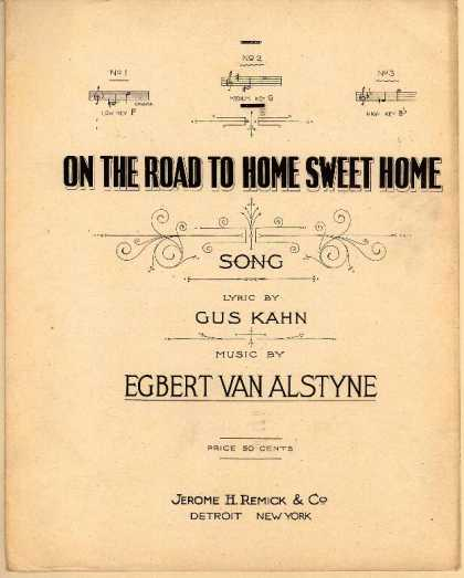 Sheet Music - On the road to home sweet home