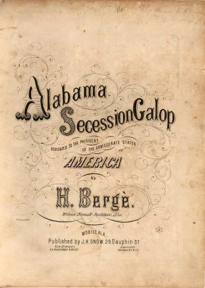 Sheet Music - Alabama secession galop