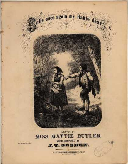Sheet Music - Smile once again my Hattie dear