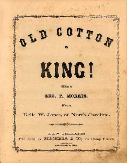 Sheet Music - Old cotton is king!