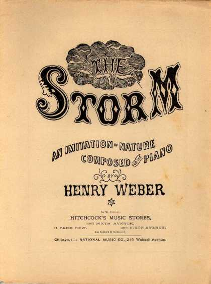 Sheet Music - The storm; An imitation of nature