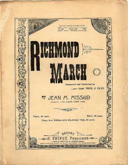 Sheet Music - Richmond march