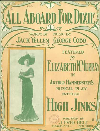 Sheet Music - All aboard for Dixie Land