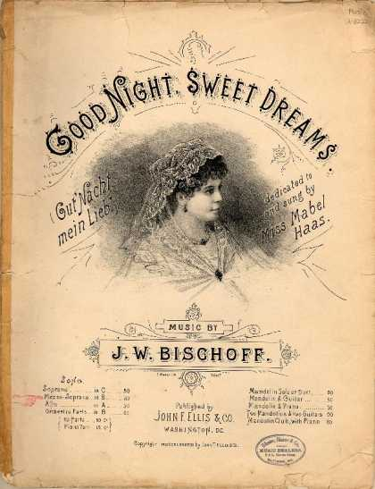 Sheet Music - Good night, sweet dreams; Gut' Nacht, mein Lieb'