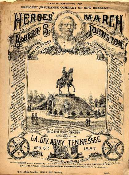 Sheet Music - Heroes' march; Albert S. Johnston