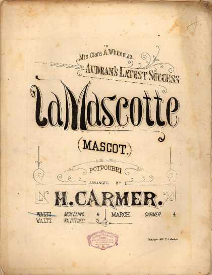 Sheet Music - La mascotte valse; Mascot potpourri