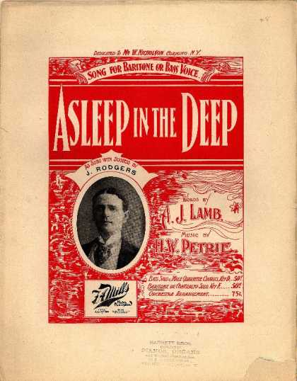 Sheet Music - Asleep in the deep