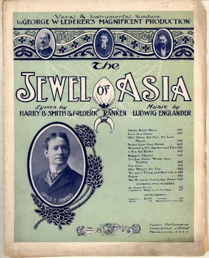 Sheet Music - Everybody wants to see the baby; Jewel of Asia