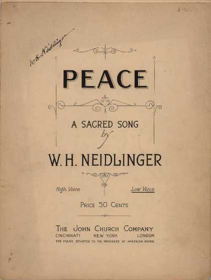 Sheet Music - Peace
