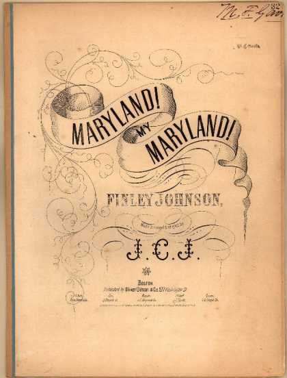 Sheet Music - Maryland! my Maryland!
