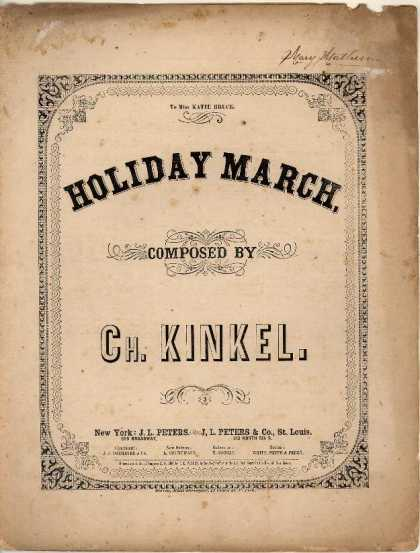 Sheet Music - Holiday March