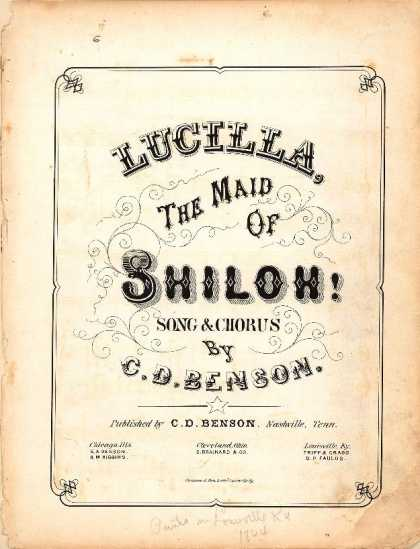 Sheet Music - Lucilla, the maid of Shiloh