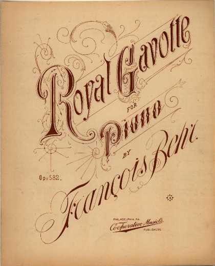 Sheet Music - Royal gavotte; Op. 582