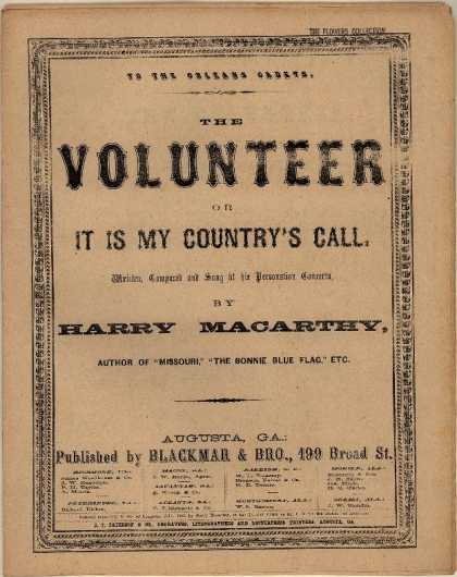 Sheet Music - The volunteer; It is my country's call