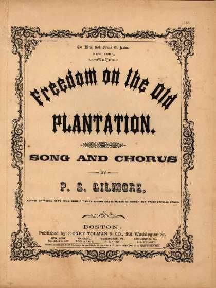 Sheet Music - Freedom on the old plantation