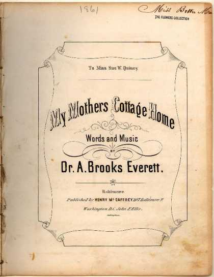Sheet Music - My mothers cottage home