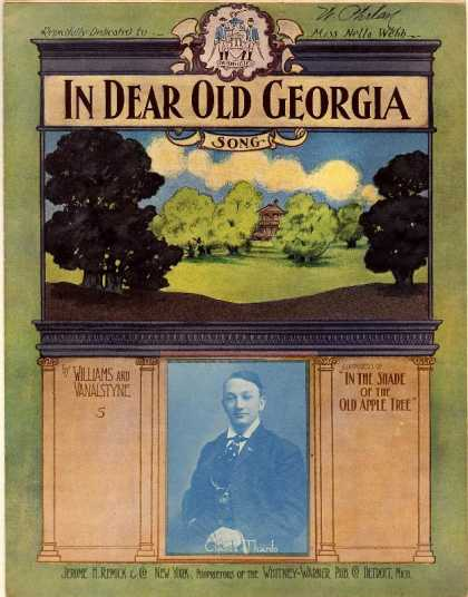Sheet Music - In dear old Georgia