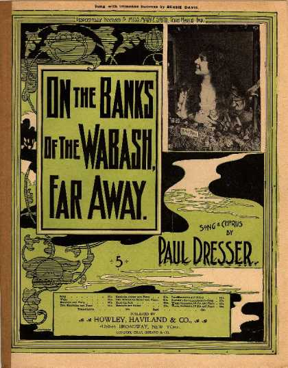 Sheet Music - On the banks of the Wabash far away