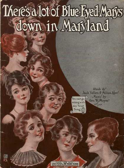 Sheet Music - There's a lot of blue-eyed Marys down in Maryland