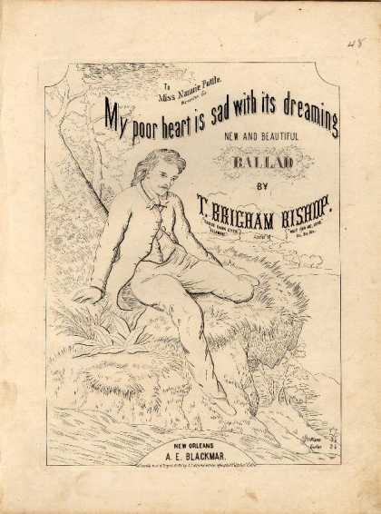 Sheet Music - My poor heart is sad with its dreaming