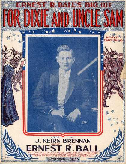 Sheet Music - For Dixie and Uncle Sam