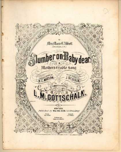Sheet Music - Slumber on Baby dear; Mother's cradle song; Laninnarella