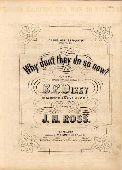 Sheet Music - Why don't they do so now?