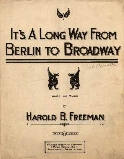 Sheet Music - It's a long way from Berlin to Broadway