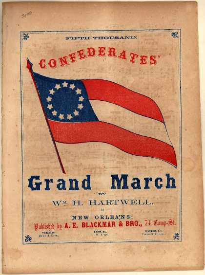 Sheet Music - Confederates grand march
